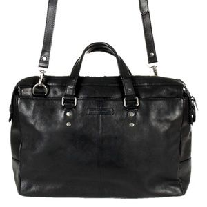 The Frye Company Ben Artisan Leather Briefcase Blk